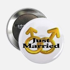 "Men Just Marries 2.25"" Button"