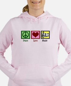 Peace Love Music Women's Hooded Sweatshirt