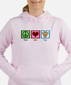 Peace Love Dogs Women's Hooded Sweatshirt