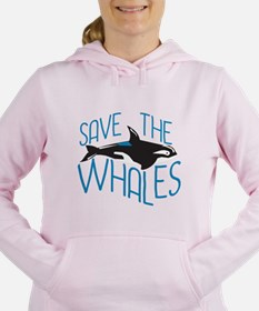 Save the Whales Women's Hooded Sweatshirt