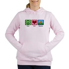 Peace Love Hamsters Women's Hooded Sweatshirt