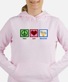 Peace Love Hanukkah Women's Hooded Sweatshirt