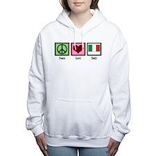 Peace Love Italy Women's Hooded Sweatshirt