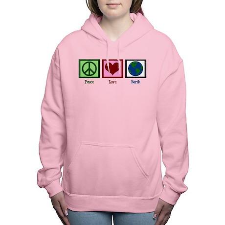 Peace Love Earth Women's Hooded Sweatshirt