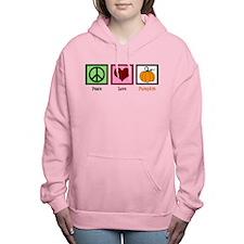 Peace Love Pumpkin Women's Hooded Sweatshirt