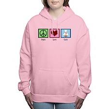 Peace Love Cook Women's Hooded Sweatshirt