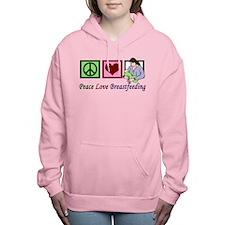 Peace Love Breastfeeding Women's Hooded Sweatshirt