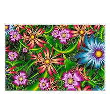 Fractal Flower Garden Postcards (Package of 8)