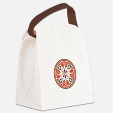 Hex Sign Canvas Lunch Bag
