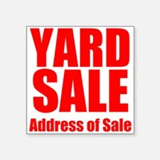 Yard Sale Sticker