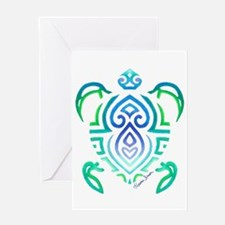 Tribal Turtle Greeting Cards