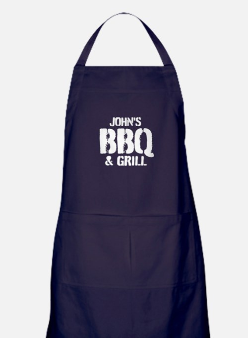 Personalized Bbq And Grill For Men Apron (dark)