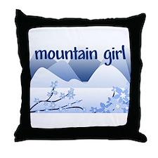 Mountain Girl Throw Pillow
