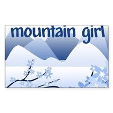 Mountain Girl Rectangle Decal