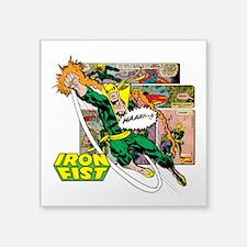 "Marvel Iron Fist Square Sticker 3"" x 3"""