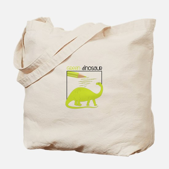 Green Dinosaur Tote Bag