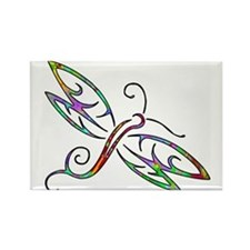 Colorful dragonfly Magnets