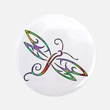 "Colorful dragonfly 3.5"" Button"