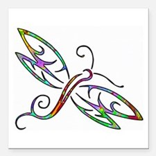 "Colorful dragonfly Square Car Magnet 3"" x 3"""
