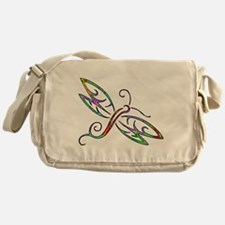Colorful dragonfly Messenger Bag