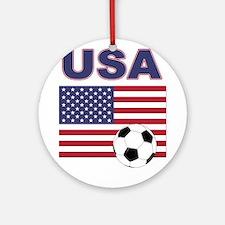 USA soccer Ornament (Round)