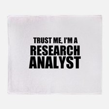 Trust Me, I'm A Research Analyst Throw Blanket