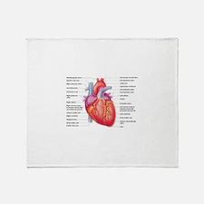 Human Heart Throw Blanket