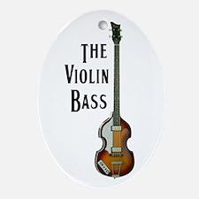 The Violin Bass Oval Ornament