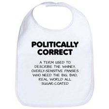 Politically Correct Pansies Bib