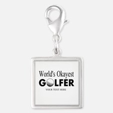 Worlds Okayest Golfer   Funny Golf Charms