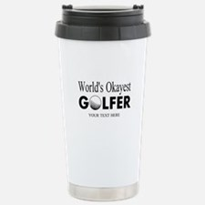 Worlds Okayest Golfer | Funny Golf Travel Mug