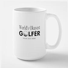 Worlds Okayest Golfer   Funny Golf Mugs For Dad