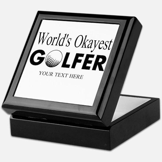 Worlds Okayest Golfer | Funny Golf Keepsake Box