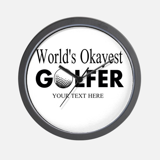 Worlds Okayest Golfer | Funny Golf Wall Clock