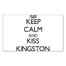 Keep Calm and Kiss Kingston Decal