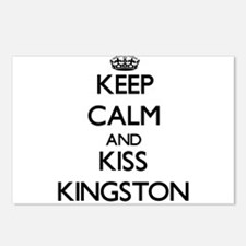 Keep Calm and Kiss Kingston Postcards (Package of