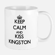 Keep Calm and Kiss Kingston Mugs