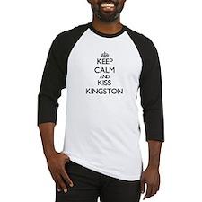 Keep Calm and Kiss Kingston Baseball Jersey