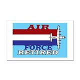 "Air force retired 3"" x 5"""
