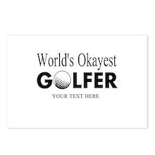 Worlds Okayest Golfer | Funny Golf Postcards (Pack