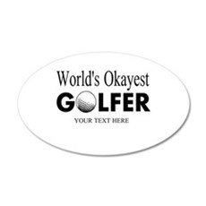Worlds Okayest Golfer | Funny Golf Wall Decal