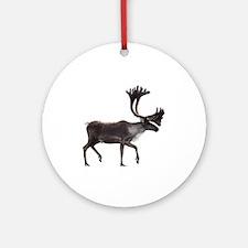 caribou Round Ornament