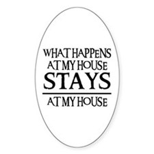 MY HOUSE Oval Decal