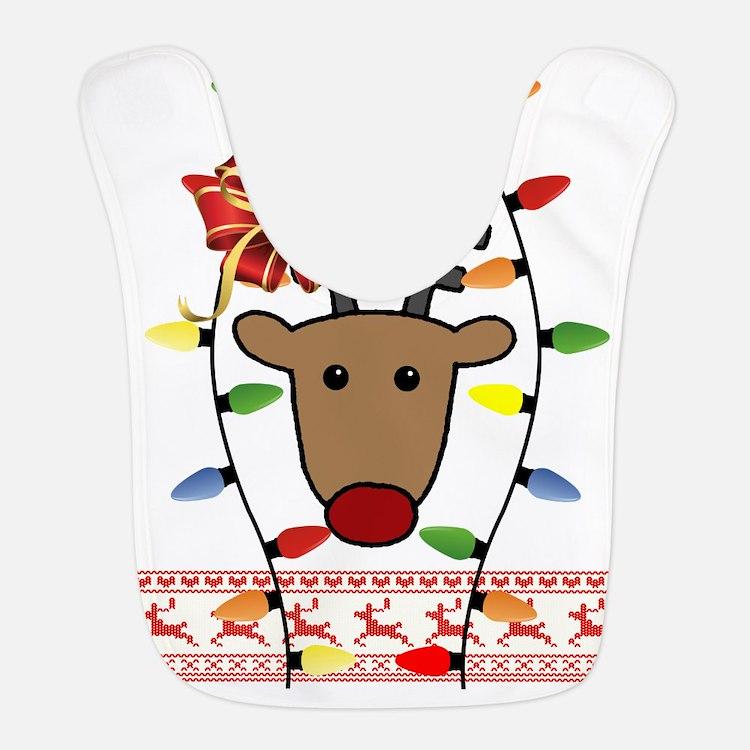 Ugly Christmas Sweater Bib