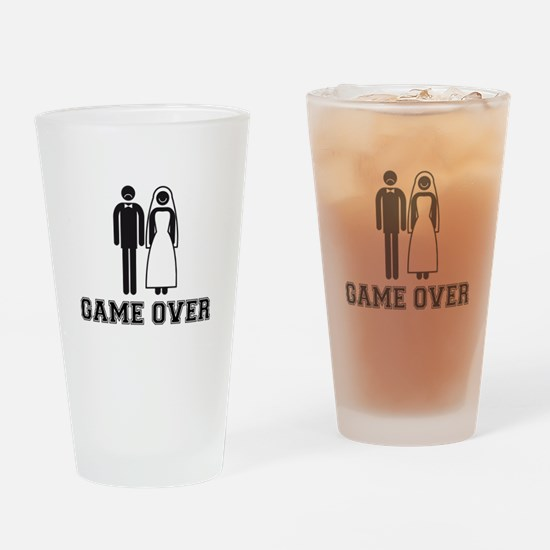 wedding couple game over Drinking Glass