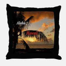 Sunset North Shore Oahu Throw Pillow