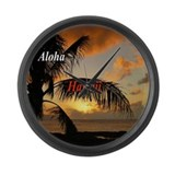 Hawaiian sunset Giant Clocks
