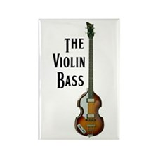 The Violin Bass Rectangle Magnet