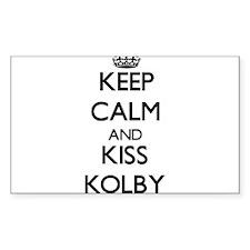 Keep Calm and Kiss Kolby Decal
