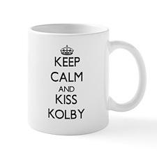 Keep Calm and Kiss Kolby Mugs